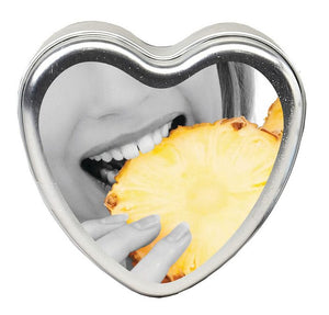 CANDLE 3-IN-1 HEART EDIBLE PINEAPPLE BREEZE 4.7 OZ -EBHSCK011