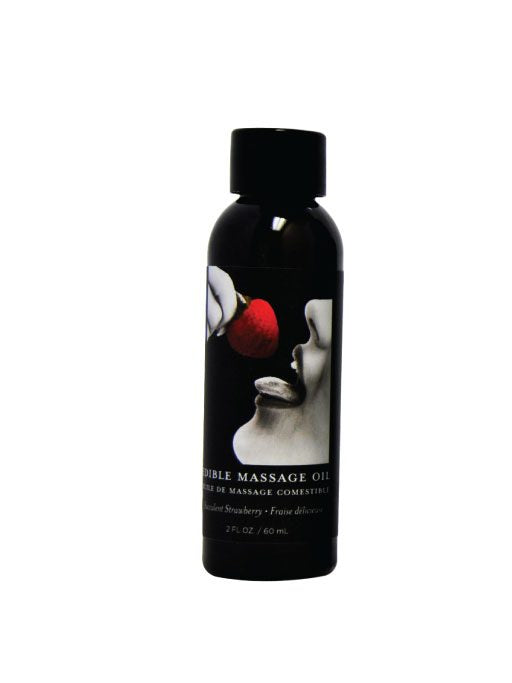 EDIBLE MASSAGE OIL STRAWBERRY 2 OZ -EBMSE203