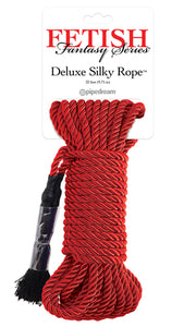 FETISH FANTASY SERIES DELUXE SILK ROPE RED -PD386515
