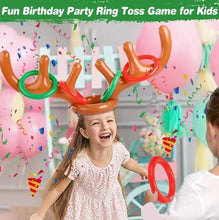 Load image into Gallery viewer, Christmas Sale - 50% Off - Christmas Reindeer Antler Ring Toss Game