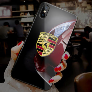 【Tempered Glass】Car Brands Ultra-thin Shine Phone Case