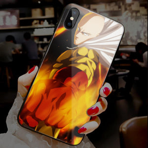 【Tempered Glass】One-Punch Man Ultra-thin Shine Phone Case