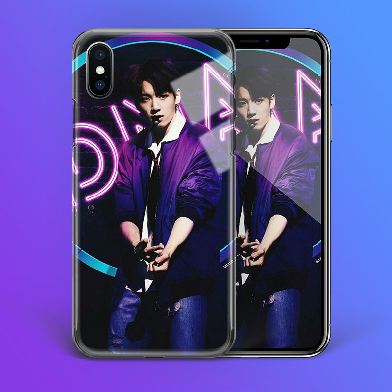 【Tempered Glass】BTS Jungkook DNA Theme Phone Case