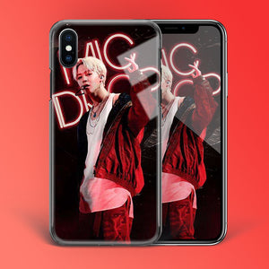 【Tempered Glass】BTS Jimin Mic Drop Theme Phone Case
