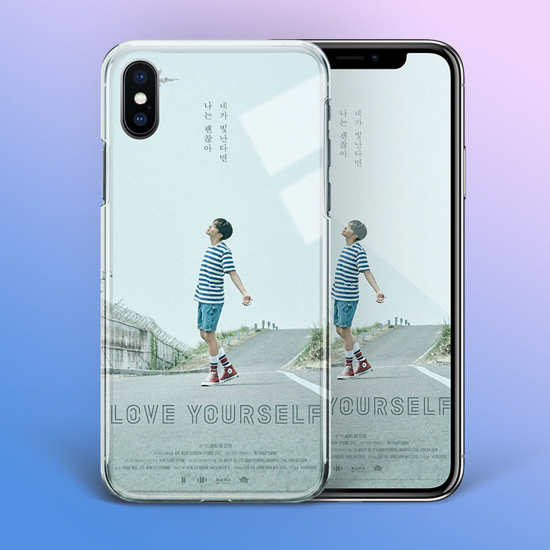 【Tempered Glass】BTS J-Hope Love Yourself Theme Phone Case