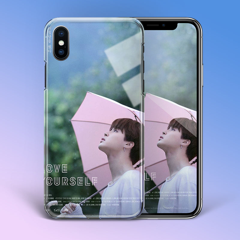 【Tempered Glass】BTS Jimin Love Yourself Theme Phone Case