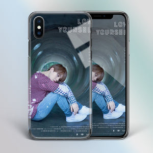 【Tempered Glass】BTS Suga Love Yourself Theme Phone Case