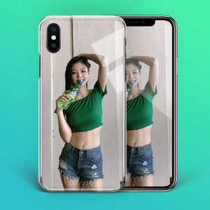 "【Tempered Glass】BLACKPINK Jennie ""Sprite"" V1 Phone Case"