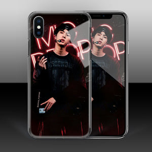 【Tempered Glass】BTS Jin Mic Drop Theme Phone Case
