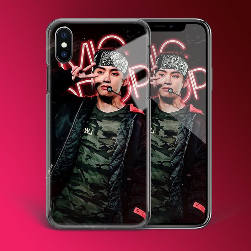 【Tempered Glass】BTS V Mic Drop Theme Phone Case