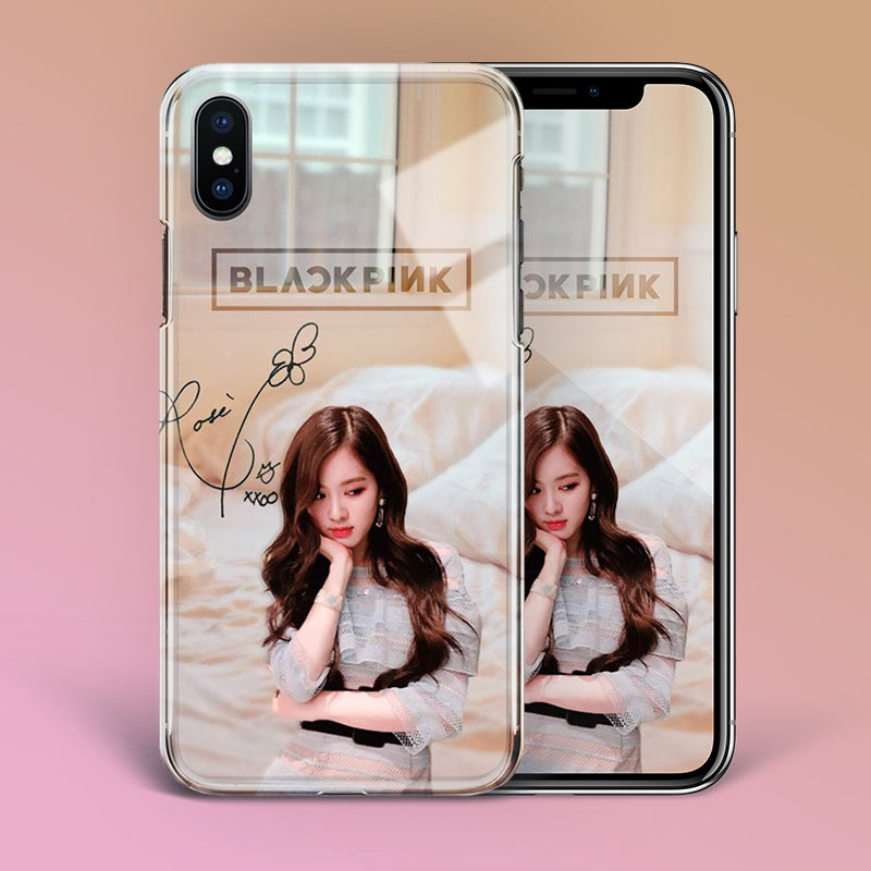 【Tempered Glass】BLACKPINK Rose v1 Phone Case