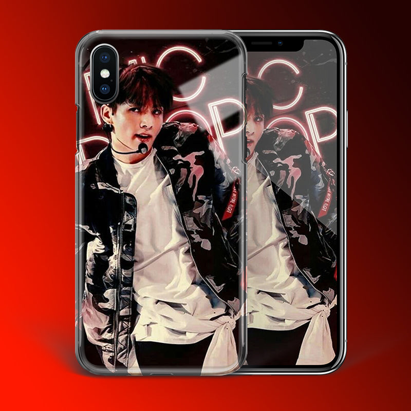 【Tempered Glass】BTS Jungkook Mic DropTheme Phone Case