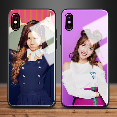 【Tempered Glass】TWICE SANA & NAYEON Phone Case