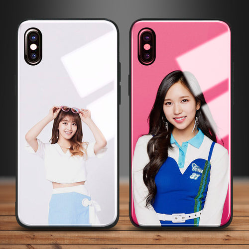【Tempered Glass】TWICE JIHYO & MINA Phone Case
