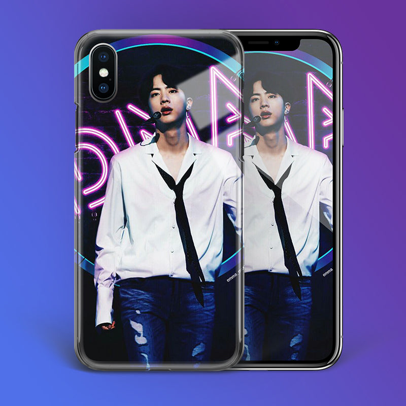 【Tempered Glass】BTS Jin DNA Theme Phone Case