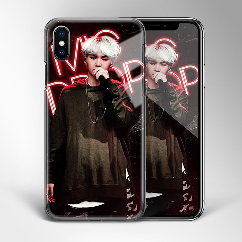 【Tempered Glass】BTS Suga Mic Drop Theme Phone Case