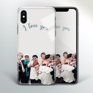 【Tempered Glass】BTS I Love You Theme Phone Case