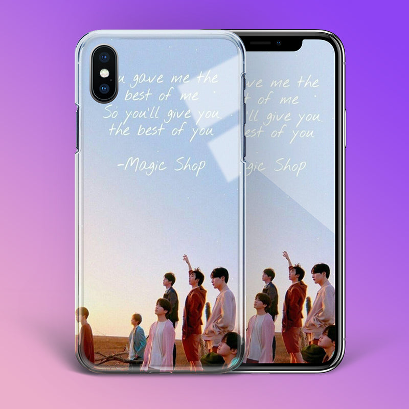 【Tempered Glass】BTS Magic Shop Theme Phone Case