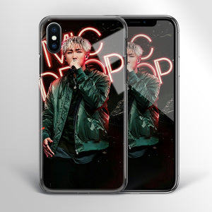 【Tempered Glass】BTS RM Mic Drop Theme Phone Case