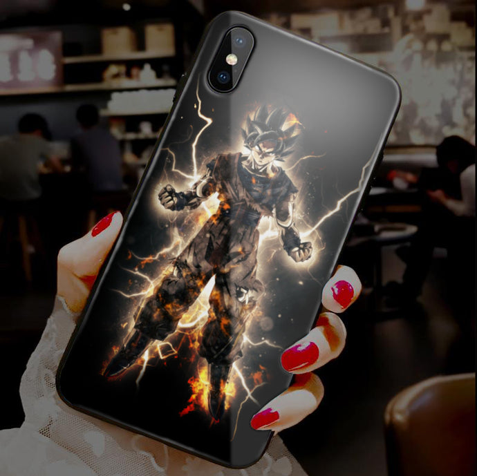 【Tempered Glass】Dragon Ball Z Ultra-thin Shine Phone Case