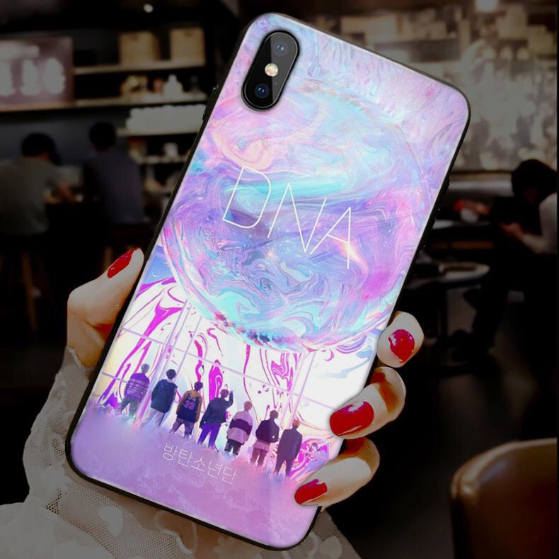 【Tempered Glass】BTS Ultra-thin Shine Phone Case