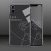 【Tempered Glass】BTS Love Yourself Black Phone Case