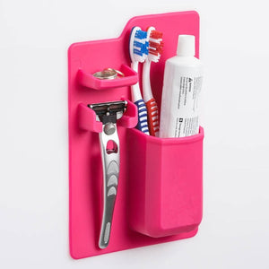 Silicone Toothbrush Holder - Bathroom Storage Organizer