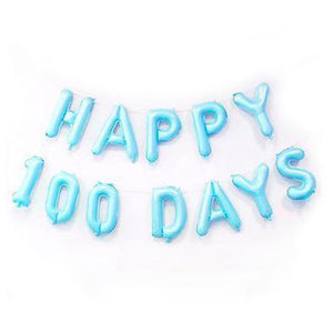 Happy 100 Days Lettering Balloon in Blue/Pink - LYB Concepts