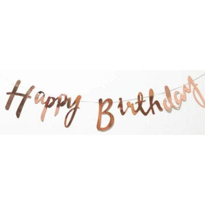 Happy Birthday Cursive Bunting - LYB Concepts