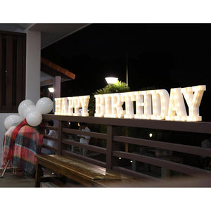 Happy Birthday Marquee Light Rental - LYB Concepts
