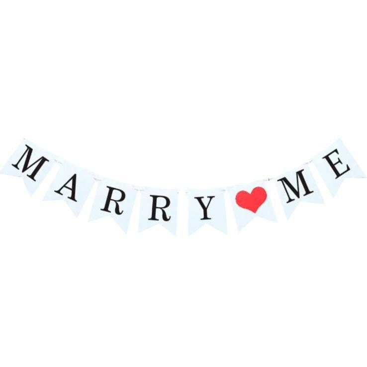 Marry Me Bunting Rental - LYB Concepts