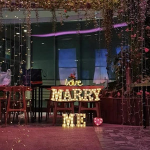Marry Me Marquee Lights Rental - LYB Concepts