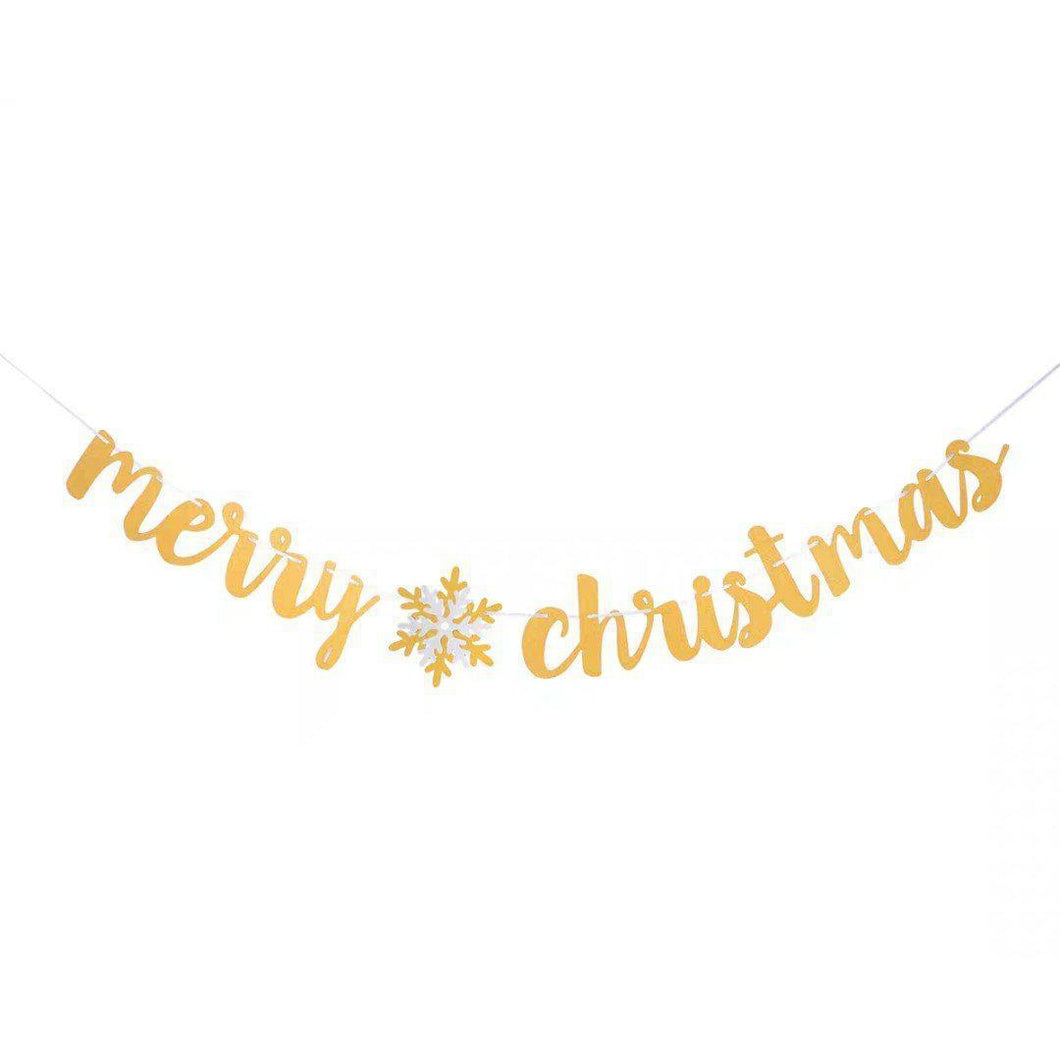 Merry Christmas Glitter Bunting - LYB Concepts