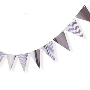 Metallic Triangle Flag Bunting (Gold/Silver/Rose) - LYB Concepts