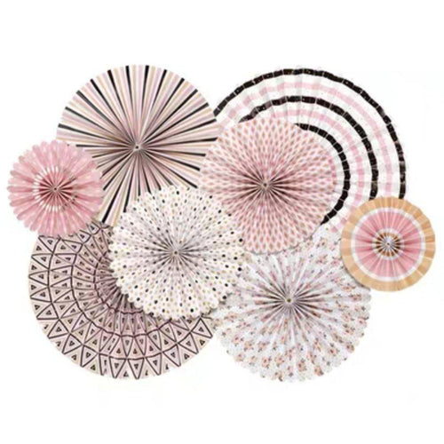 Pastel Pinks Pinwheels Set of 8 - LYB Concepts
