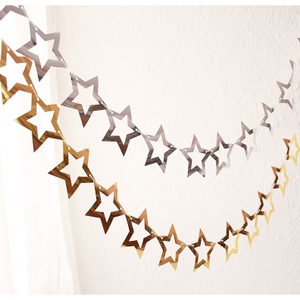 Star Cutout Garland in Gold/Silver - LYB Concepts