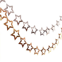 Load image into Gallery viewer, Star Cutout Garland in Gold/Silver - LYB Concepts