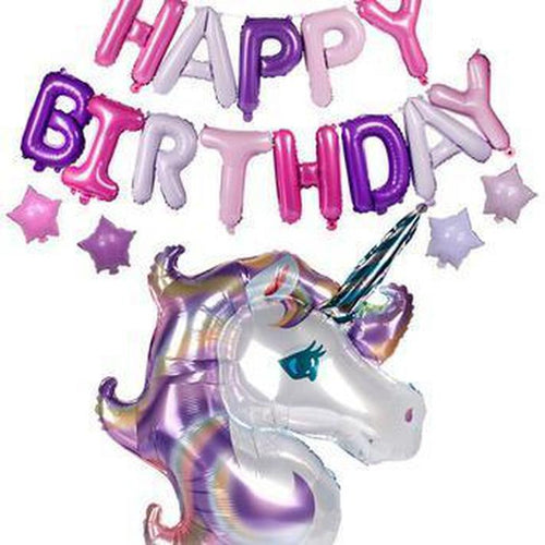 Unicorn Birthday Set in Rainbow/ Pinks & Purples - LYB Concepts