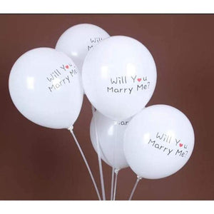 Will You Marry Me Latex Balloons - LYB Concepts