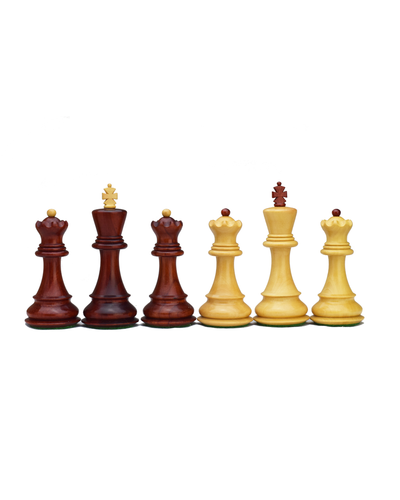 ROOGU Russian 59' Zagreb WCC Chess Pieces Set Africa Padauk Wood 3.75'' Handmade