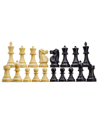 ROOGU Fischer-Spassky WC 72' Staunton 3.75'' Chess Piece Figures Set Wood Handmade