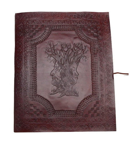 ROOGU Wisdom Tree Family Photo Album XXL Vintage Retro Leather Black Handmade India
