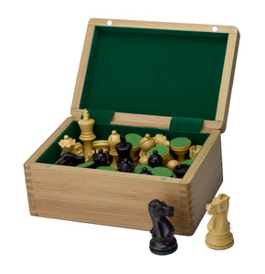 ROOGU Elegant Wooden Chess Pieces Box Storage Felt Inside Handmade India Magnetic closure