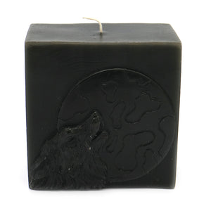 ROOGU The Night of the Wolf * Scented Candle Vanilla Cube Dark Green Black