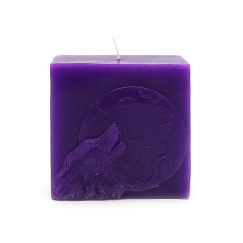 ROOGU Night of the Wolf * Scented Candle Lavender Cube Deep Purple Violet