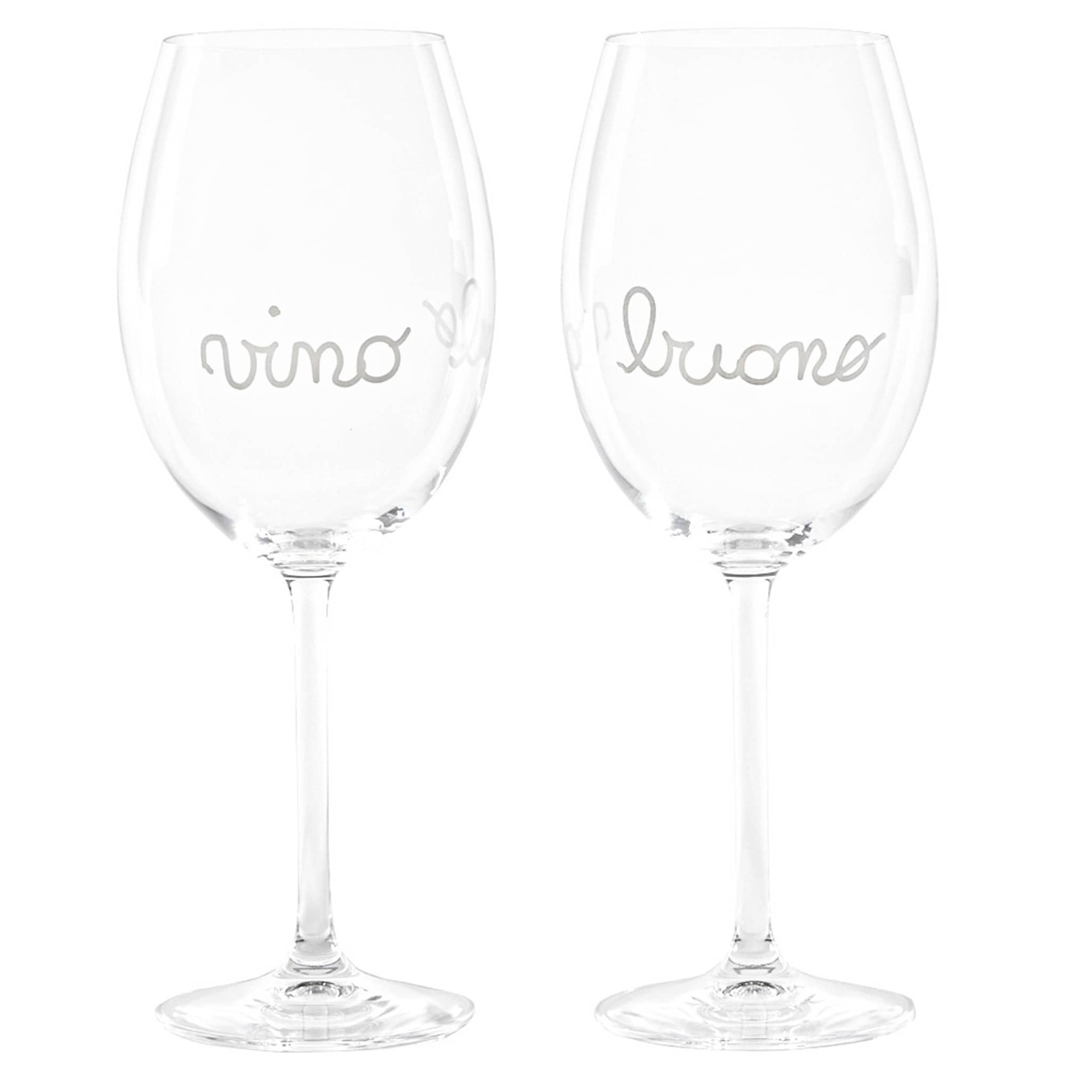 Set 2 calici vino decoro Vino Buono 59Cl
