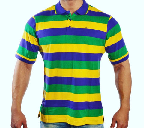 Adult Short Sleeve Mardi Gras Shirt