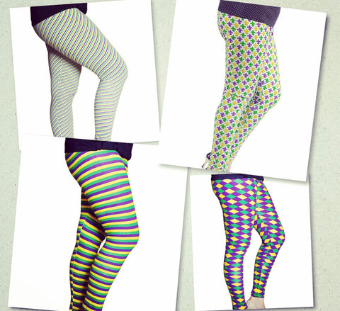 Adult Mardi Gras Leggings