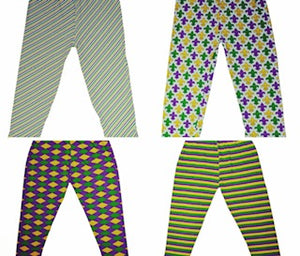 Youth Mardi Gras Leggings