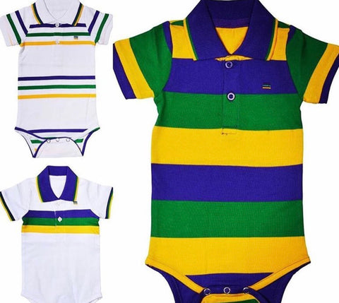Infant Mardi Gras Onesie